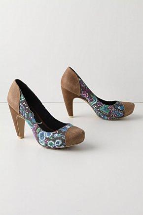 Hemmed Paisley Heels-Anthropologie.com