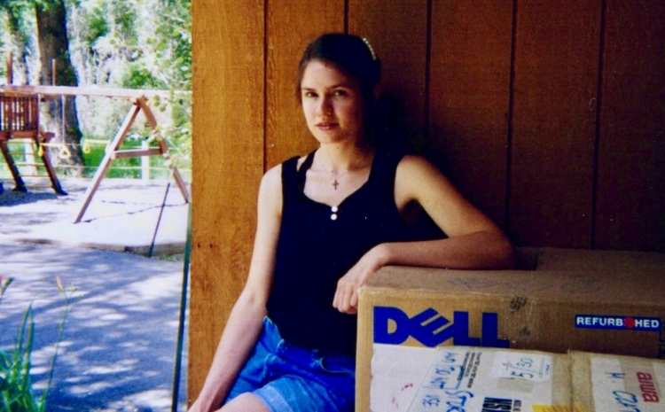 On the music school campus as a student, c. 1997
