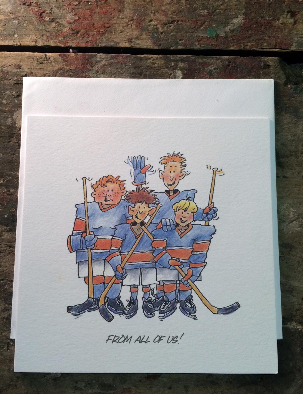 Ice Hockey Greetings Cards — Thomas Oliver Mills