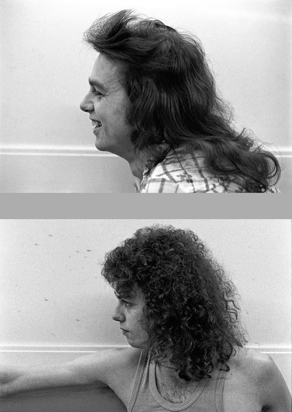 Steve Biller, Lorton, Virginia - May 1976   Before and After Haircut