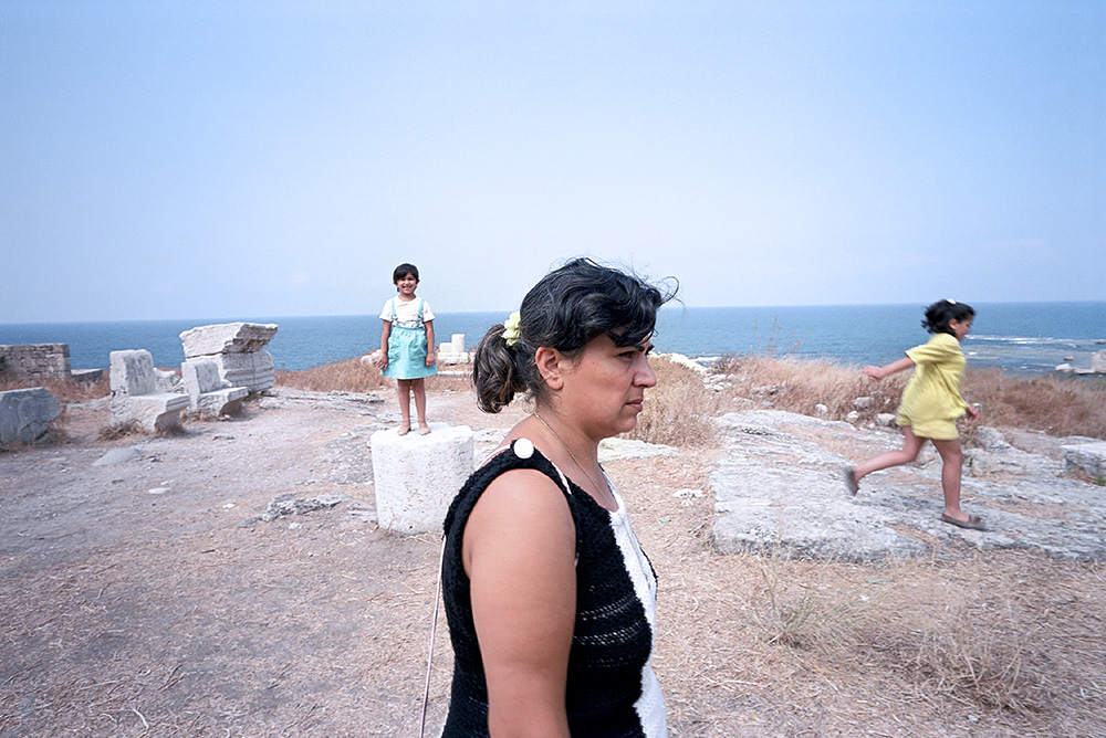 # 10  - Rora and her daughters among ancient ruins from Before Christ on the shores of the town of Jbeil.