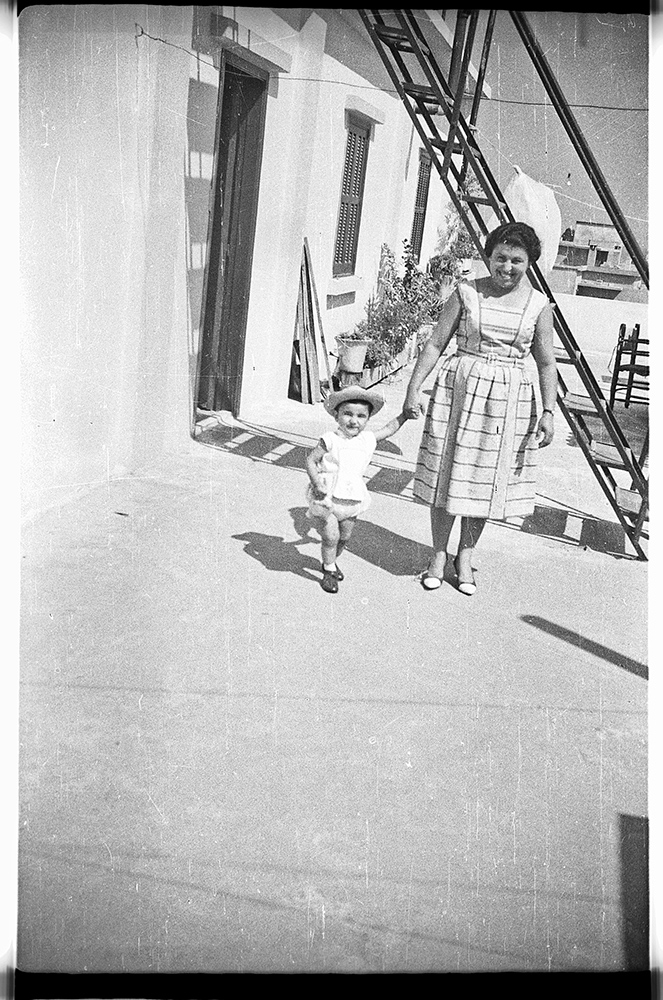 The same terrace circa 1960. Here with Tante Loulou.