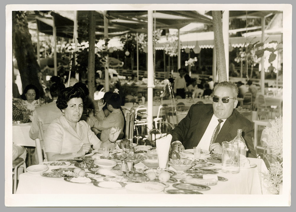 Loulou and Robert at the Birdawni in Zahle, early 1960's.