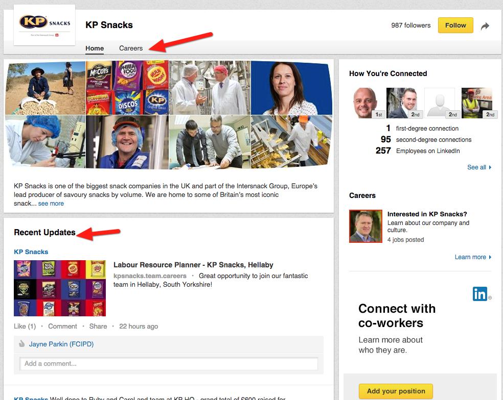 A LinkedIn company page