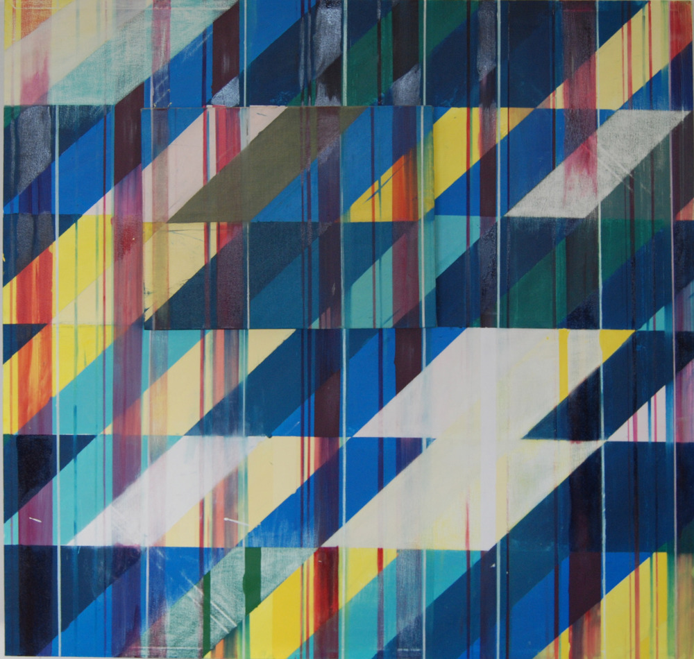 Shadowplay Generation 2.5  , 48x48, oil on canvas, with 16x20 oil on linen,  2011, $18 00
