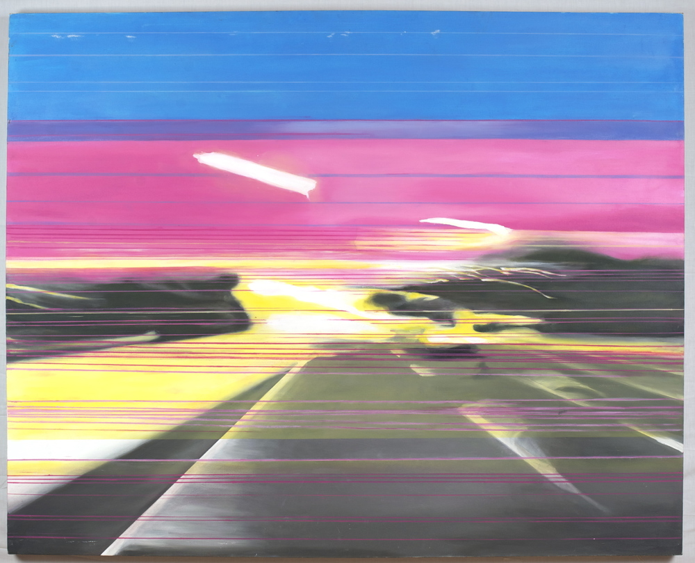 The QEW 5:54pm 11/20/2009,  48x60, oil on canvas, 2010