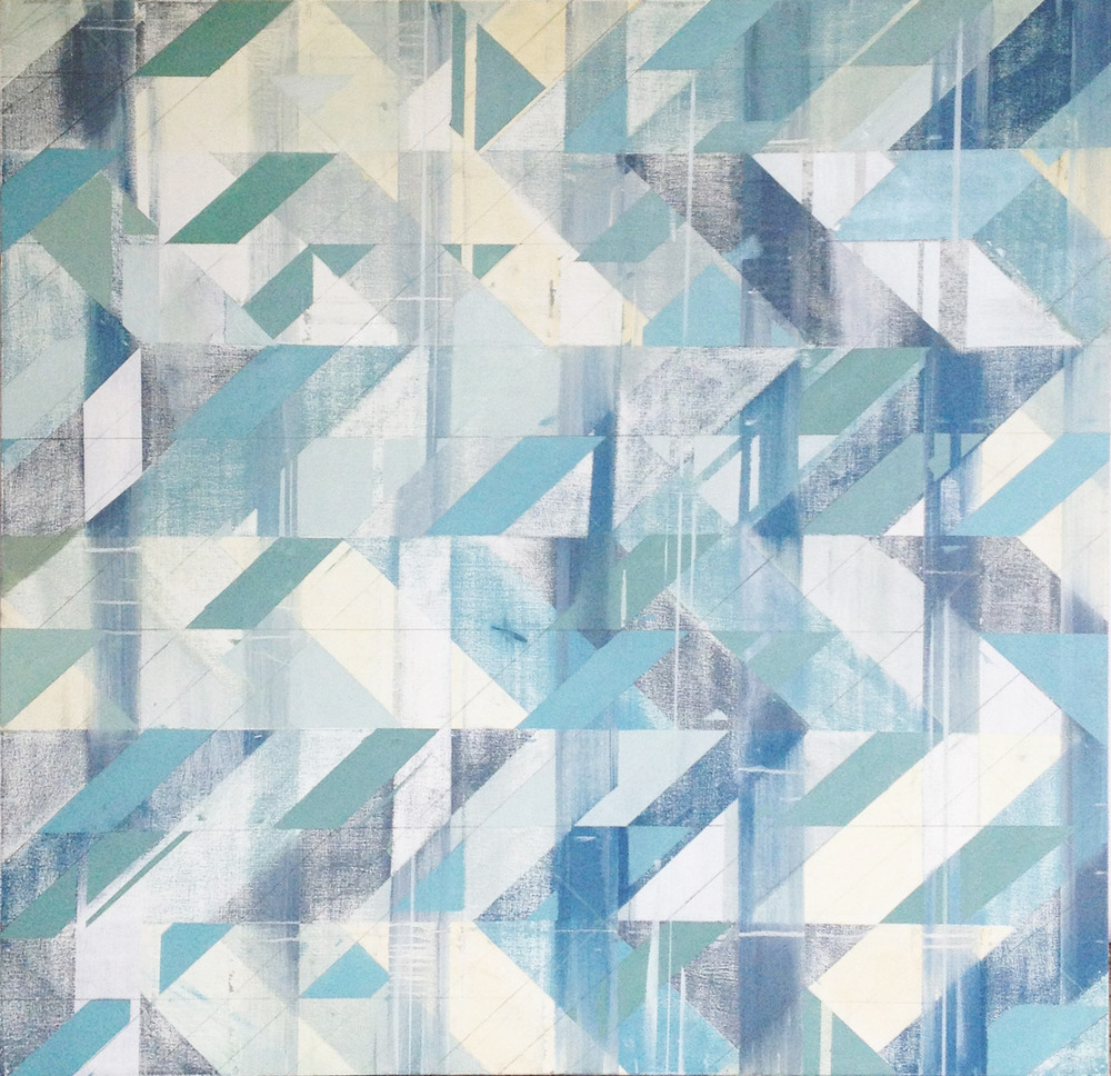 Untitled (Blues) , oil on canvas, 48x48, 2012 $1800,   SOLD at  Art Interiors , Toronto