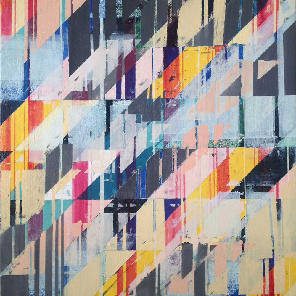 SOLD  S   hadowplay Eleven times White,  oil on canvas, 24x24, 2012, $650