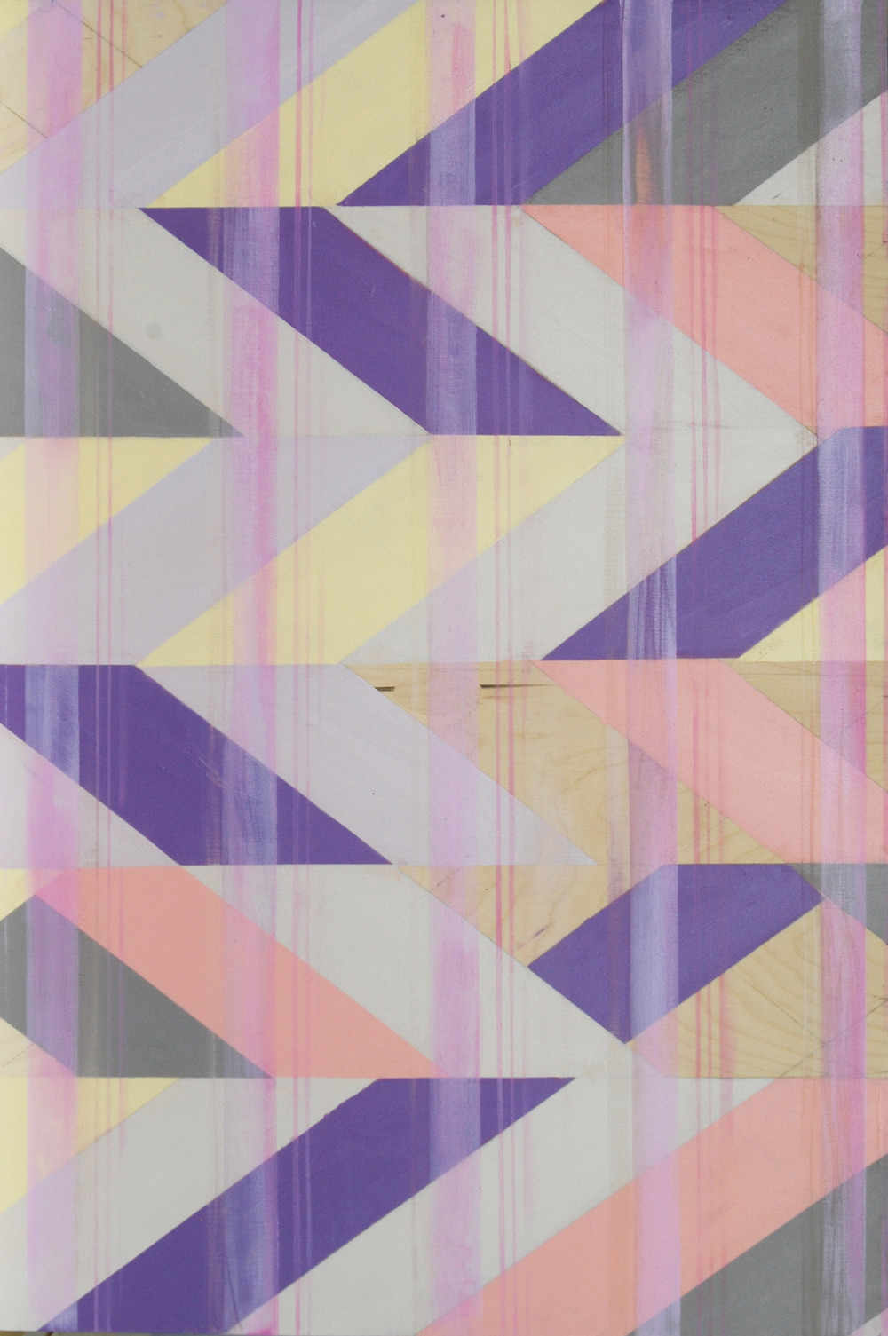 Untitled (Violet I) , oil on board, 48x48, 2012 $700