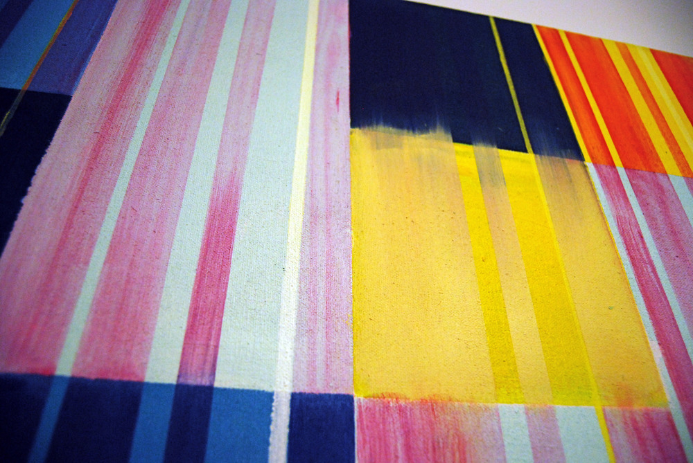 Detail:   Untitled no7 (Colours for Large Wall) , 48x48, acrylic/oil on canvas