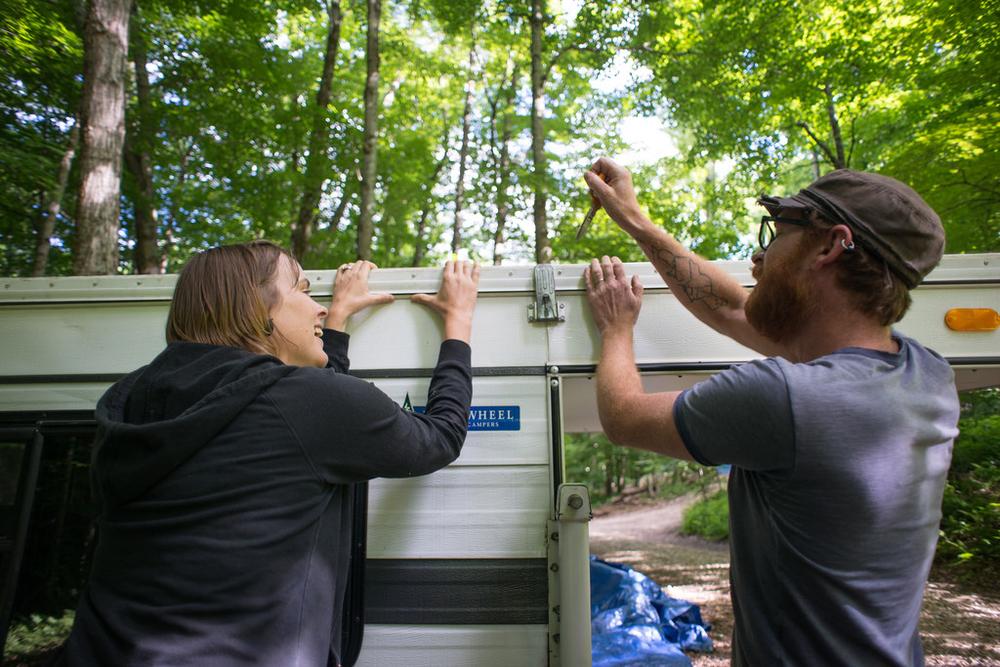 Opening Camper (by Tara)