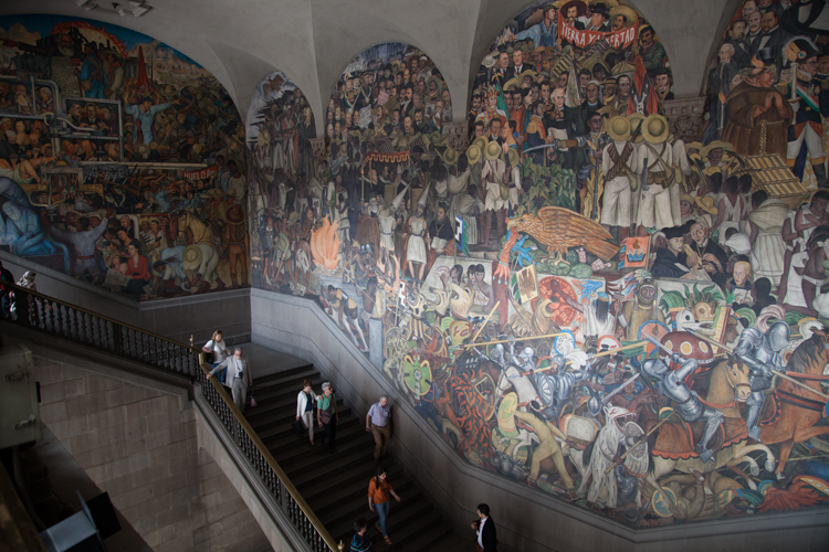 National Palace and giant mural by Diego Riveira