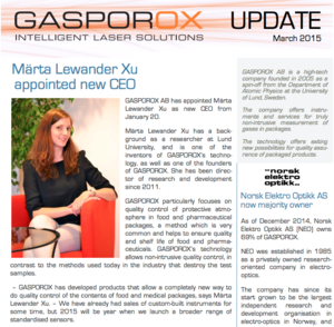 Märta Lewander Xu appointed new CEO      Read Our Newsletter