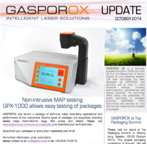 Non-intrusive MAP testing GPX-1000 allows easy testing of packages     Read Our Newsletter