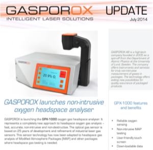 Launch of GPX-1000 spot-check instrument      Read Our Newsletter