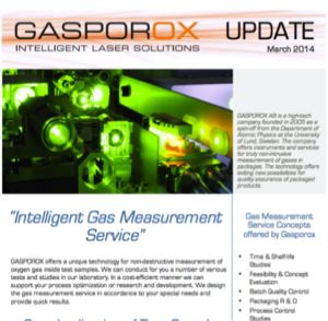 Gasporox measurement service, a perfect tool for your package and process development    Read Our Newsletter