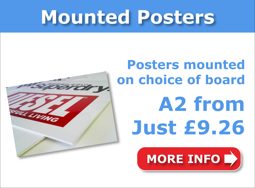 Cheap mounted posters