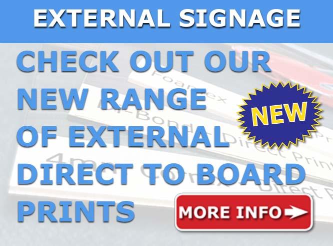 cheap external signage