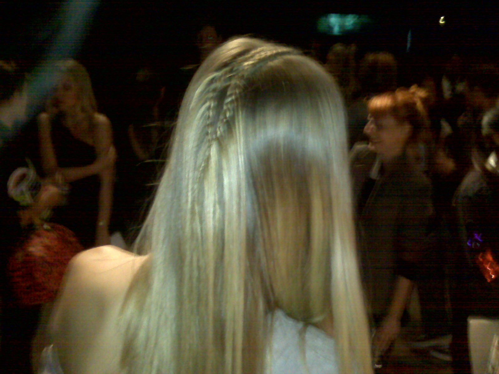 pretty pretty - delicate double braids ran the length of the models' parts