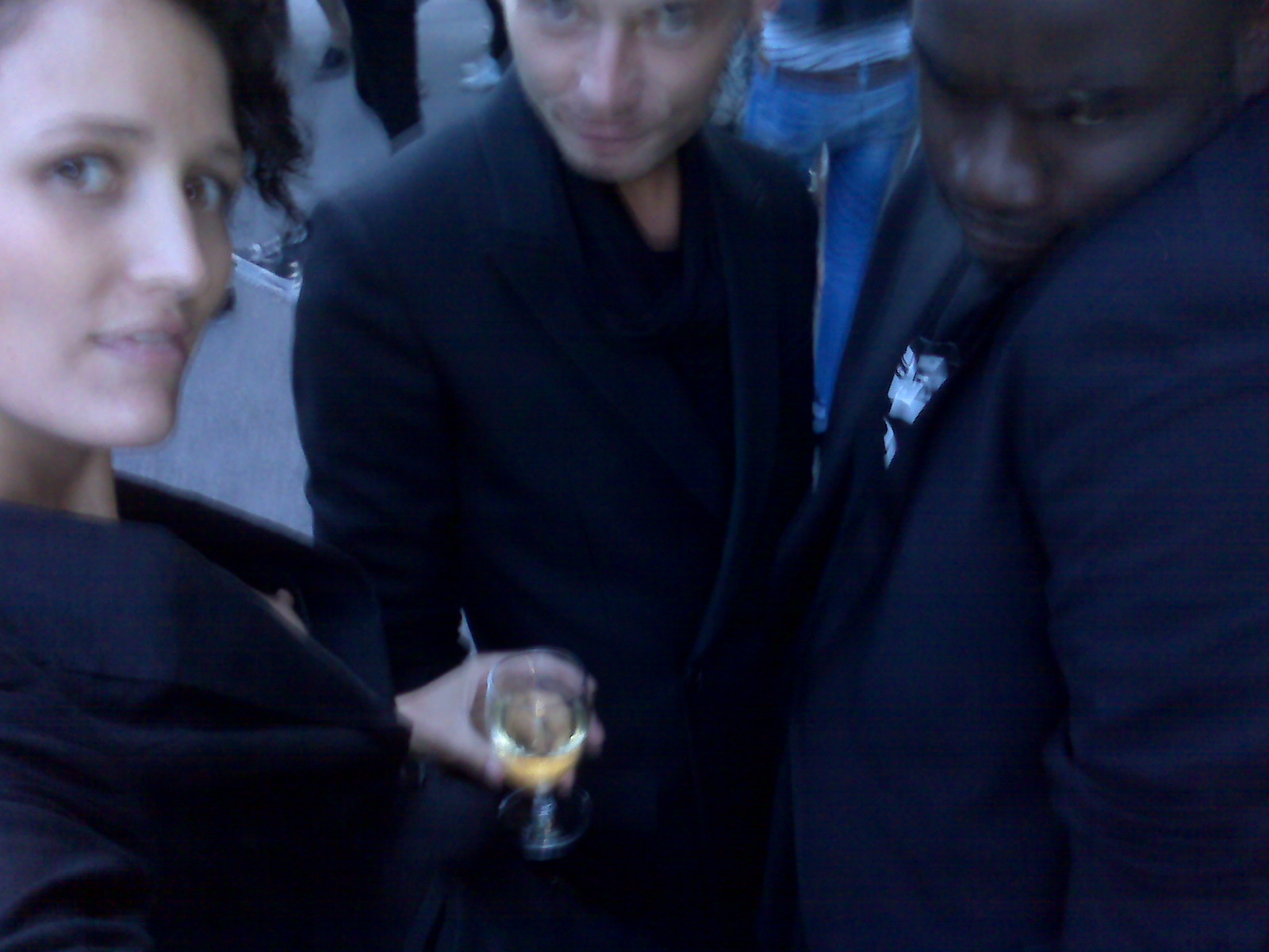 tim clifton-green, formerly of love magazine, with gabriel and I at the after-reception - black blazer committee will call to order