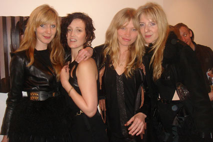 Fiona Garden With Annette and Daniela Felder and Sara Gilmour at Ben Ashton 'At Home With The Ashtons' at Simon Oldfield Contemporary 2011