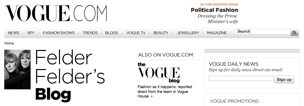 felder felder vogue blog header