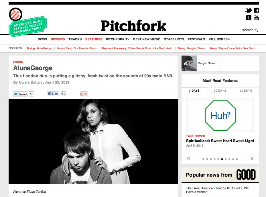 AlunaGeorge on Pitchfork by Fiona Garden