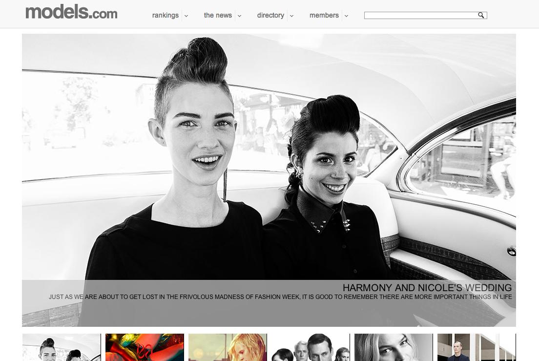 Harmony Boucher and Nicole Bettencourt Coelho on Models.com by Fiona Garden, 2012