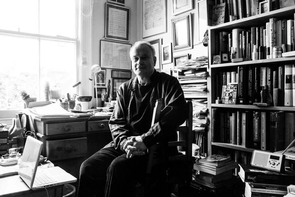 Colin Matthews in his home office // by Fiona Garden 2014