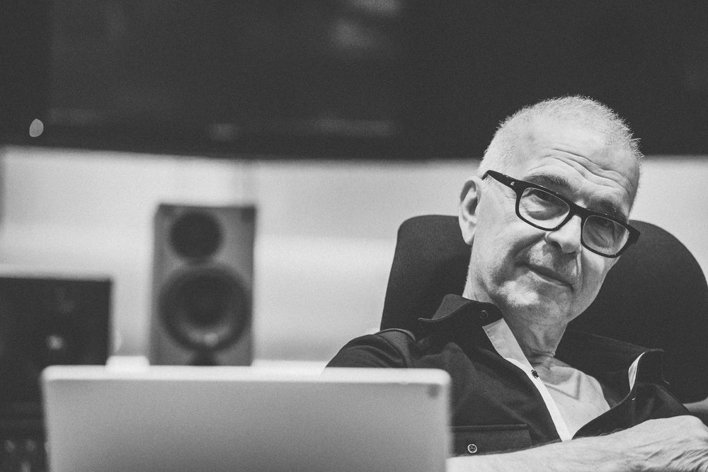 Tony Visconti in studio for Daphne Guinness session - Fiona Garden 2016
