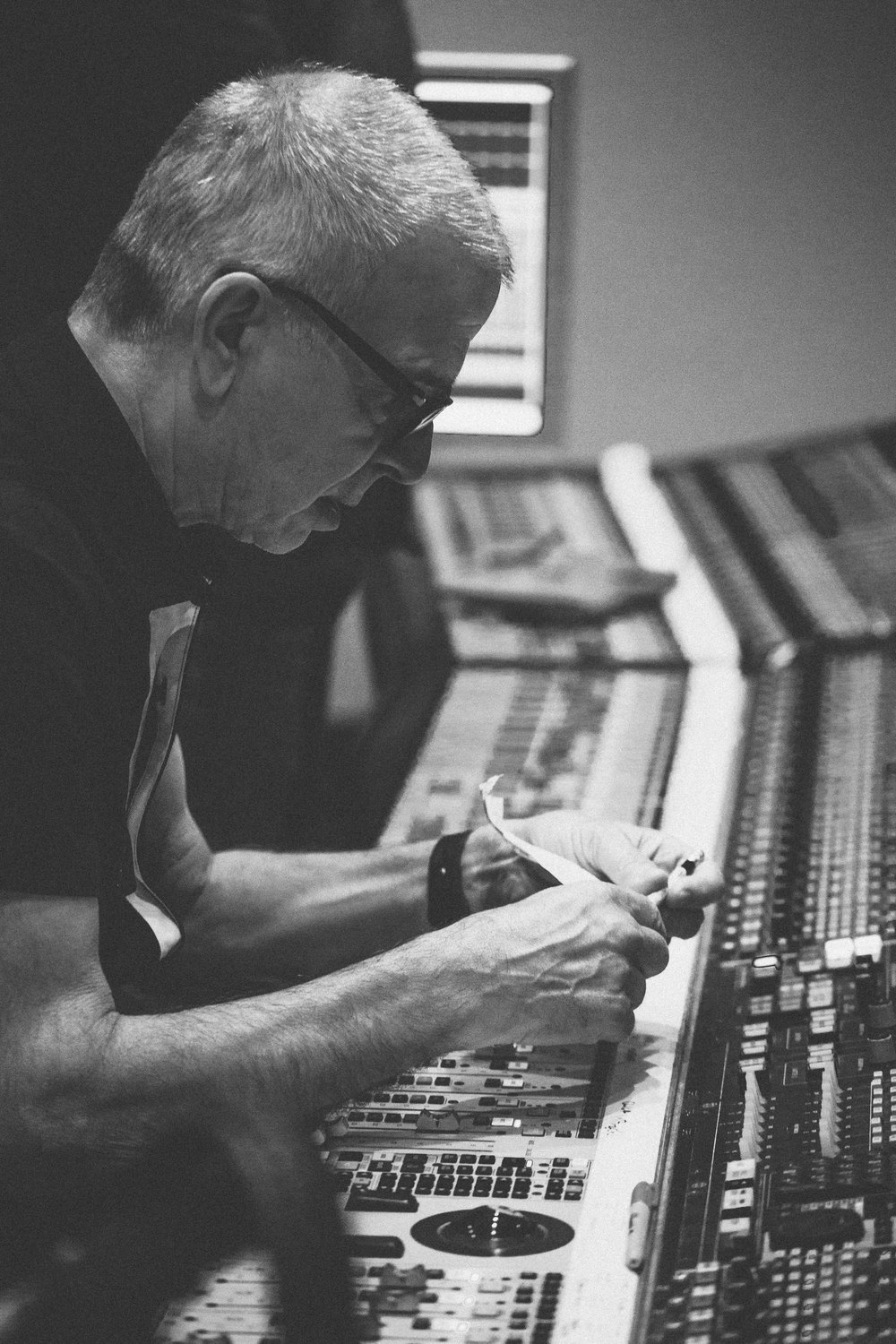 Daphne Guinness in studio with Tony Visconti - Fiona Garden 2016