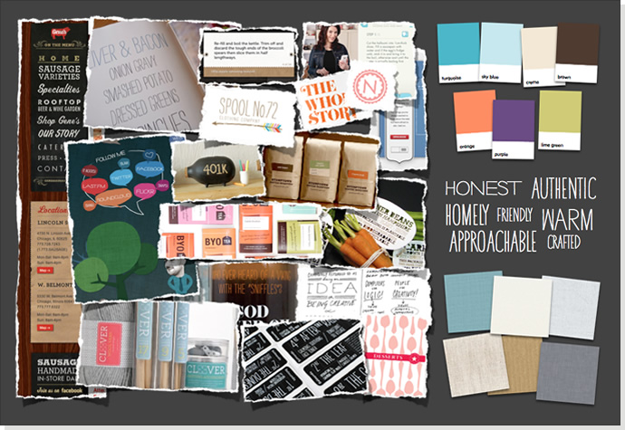 Exemple de mood board - Source: clearleft.com