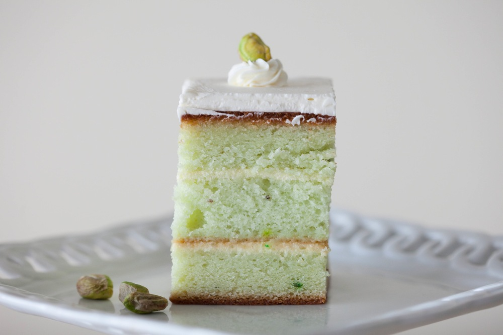 Pistachio Cake — one of our most popular flavors!