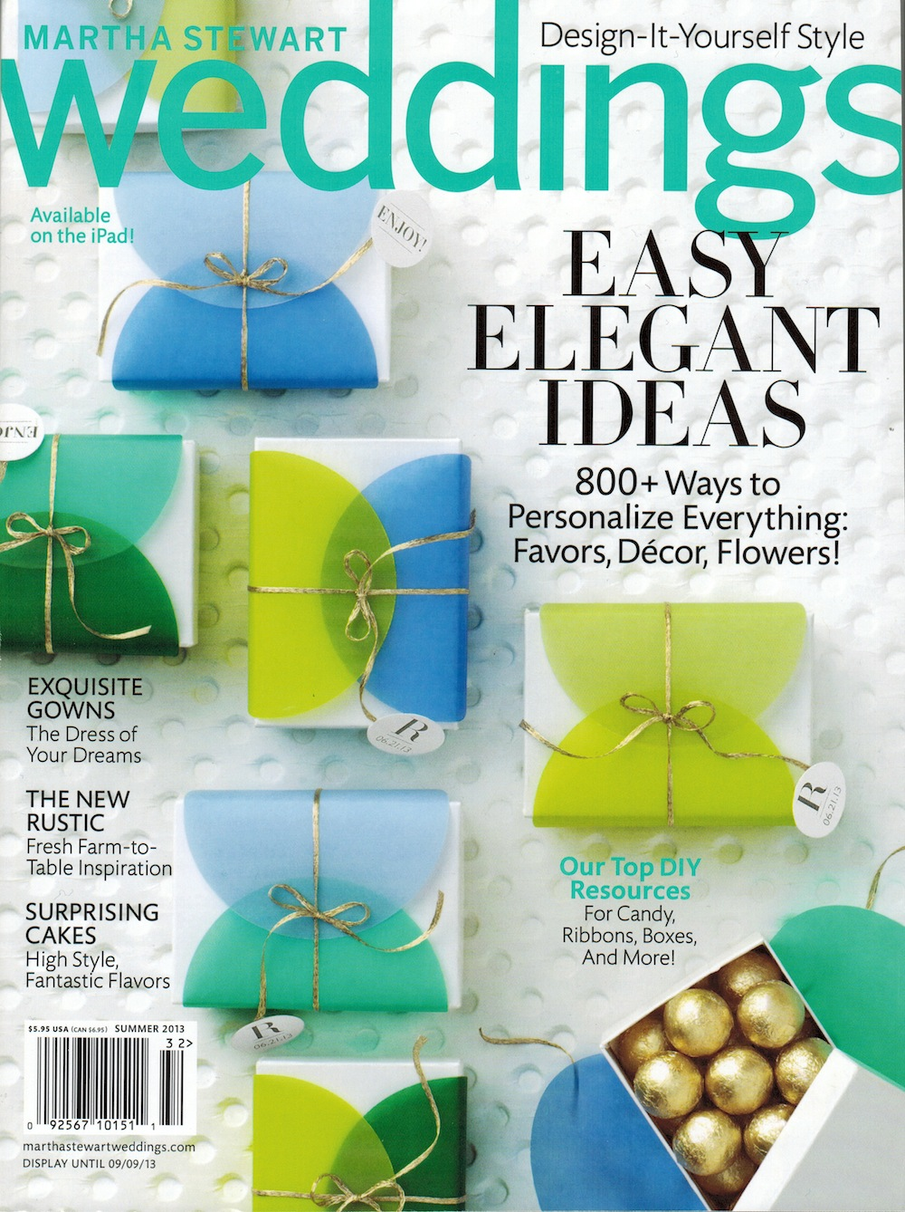 Martha Stewart Weddings Summer 2013