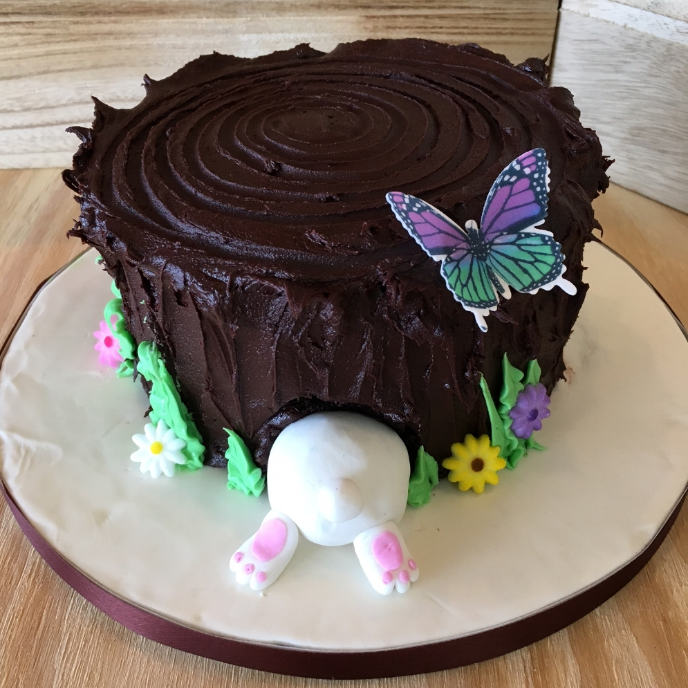 Martine's Triple Chocolate Easter Cake