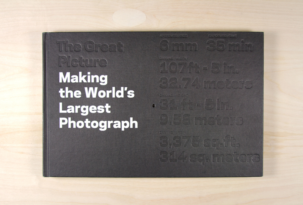 Book cover - blind embossed with the dimensions of the photograph