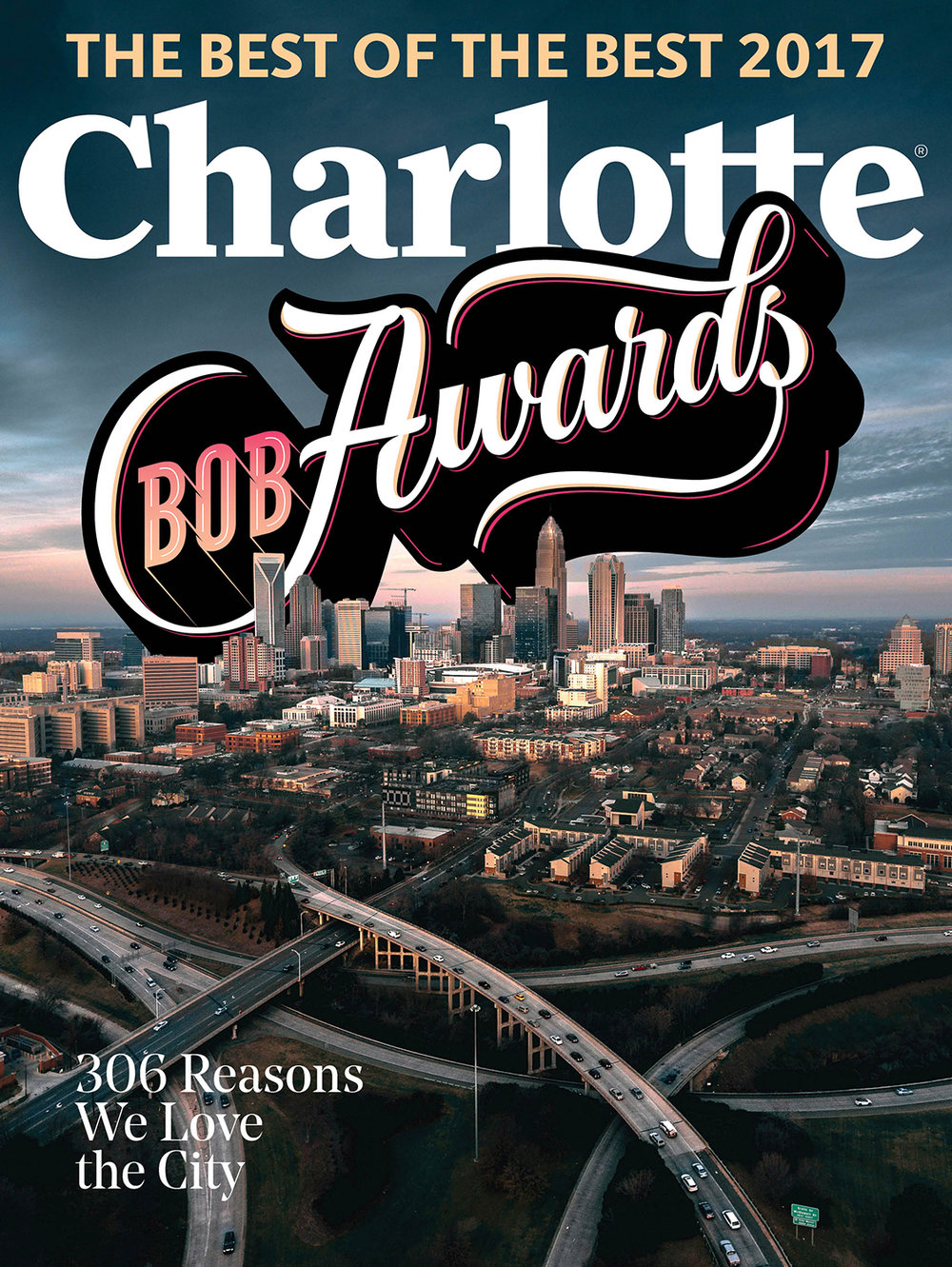 BOB Awards lettering for the cover and feature article of the May 2017 Issue