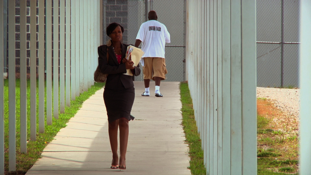 Public defender Brandy Alexander at Clayton County Jail in Jonesboro, GA © 2013 HBO Documentary Films