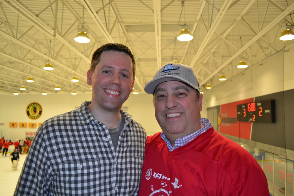 Event co-chairs, Brian Edgerton of NAI Hiffman (left), and Dave Julian of Langehaumer Construction (right).