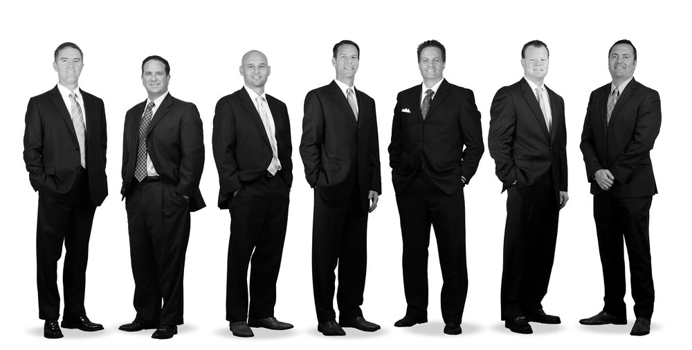 Pictured from left to right: Joe Bronson, Brian Colson, Kelly Disser, Jeff Fischer, Chris Gary, Dan Leahy, & John Whitehead