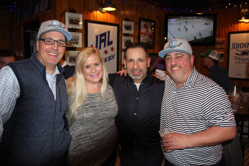Patrick Philbin of Hines, Amber Zurcher with The Andover Grou , Paul Marobella of Havas, & Dave Julian with Landehaumer Construction