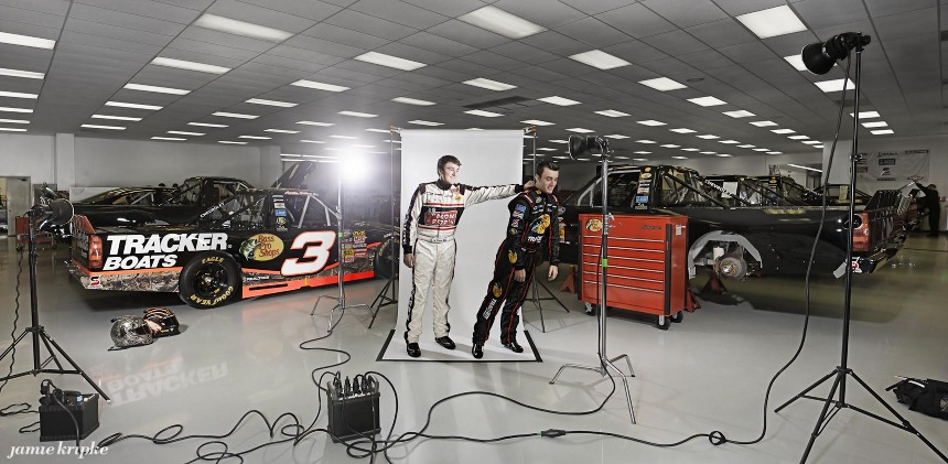 Ty (L, age 19) and Austin Dillon (age 20) at Richard Childress Racing in Welcome, NC.