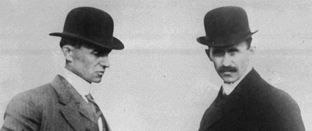 Wilbur and Orville, the original aviation gangsters.