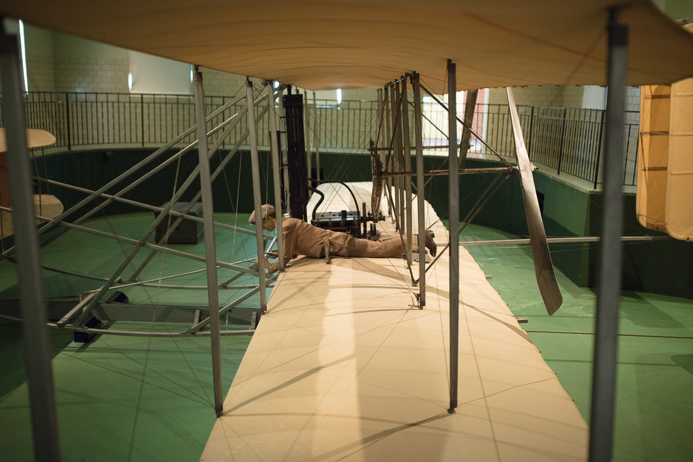 An original Wright Flyer as seen at the Carillon Historical Park in Dayton.