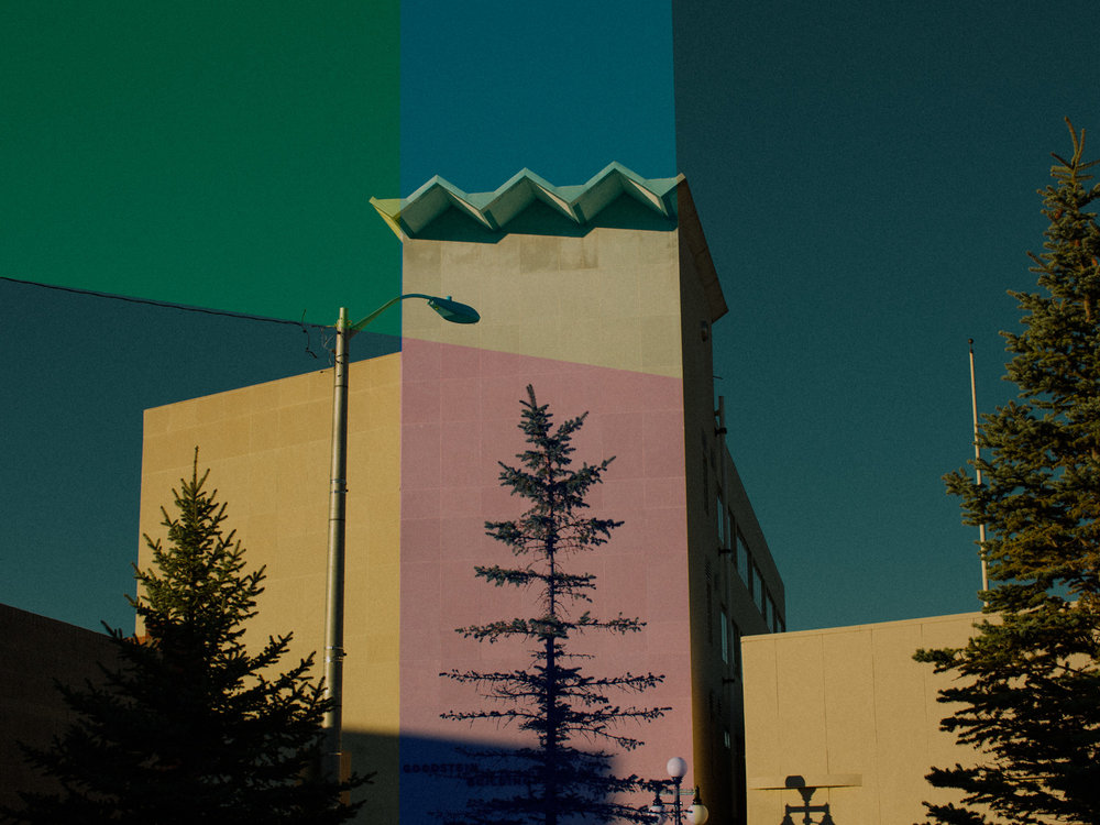 Wyoming Color - Compositional study using architecture and illustration.