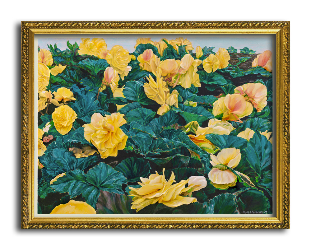Traditional gold frame