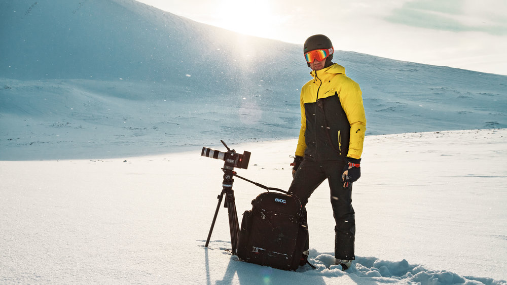 "Director philipp becker in the arctic - shooting for ""Druschba"""