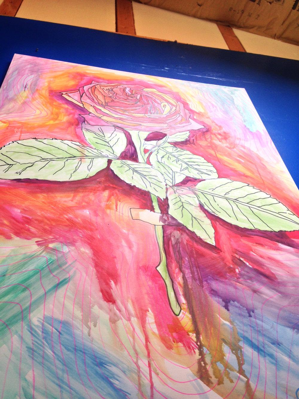 - David Brookton art hanging at The Grow Den (Denver, CO)
