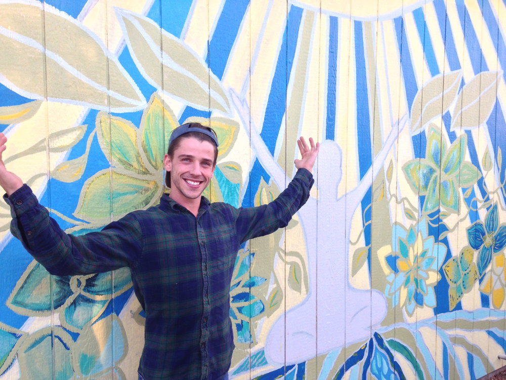 - Eric Rooney with Community Mural at The Grow Den, Color Up Therapeutics and Evolve Yoga (Denver, CO)