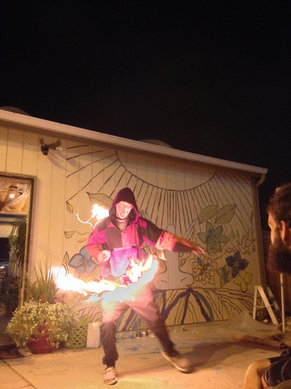 - Cam Goldberg fire dancing (Denver, CO)
